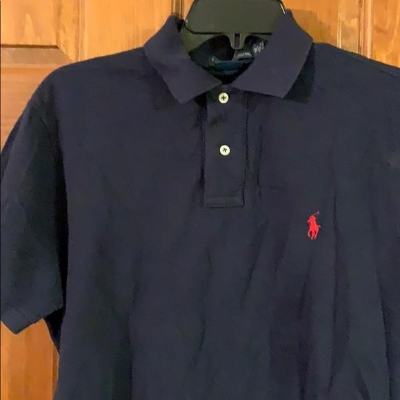New Polo Ralph Lauren men's polo shirt M Navy Blue